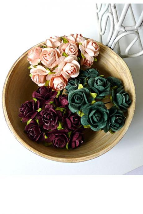 30 Mulberry mixed paper Rose Buds flower/ pack