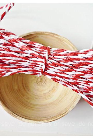 Red & White paper Twine