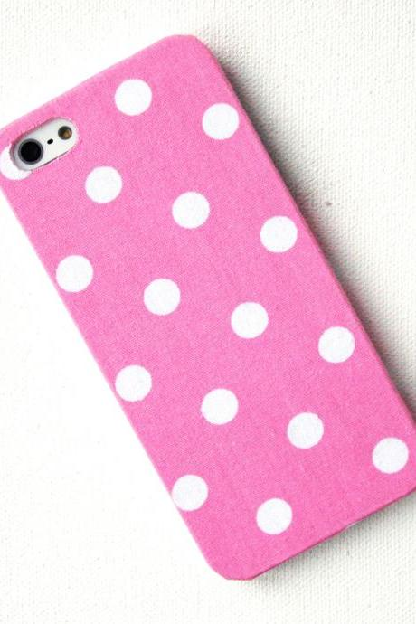 iPhone 5 Case in Pastel Pink Polka Dot, iPhone Case, iPhone Cover
