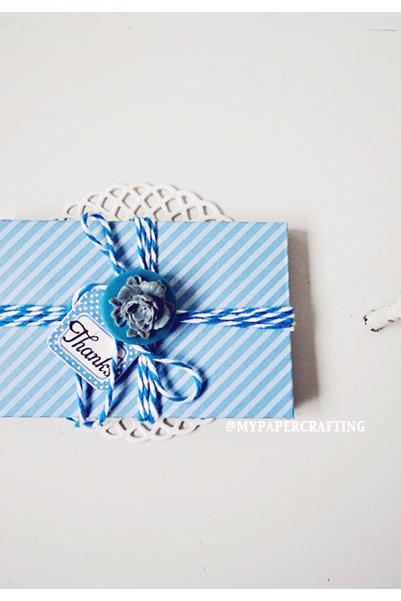 6 tiny blue berry envelope / pack