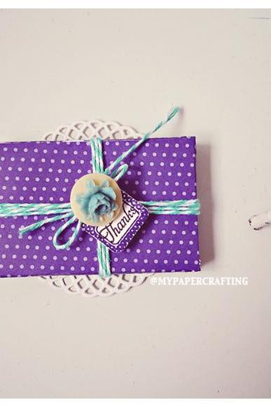 6 tiny royal velvet purple envelope / pack