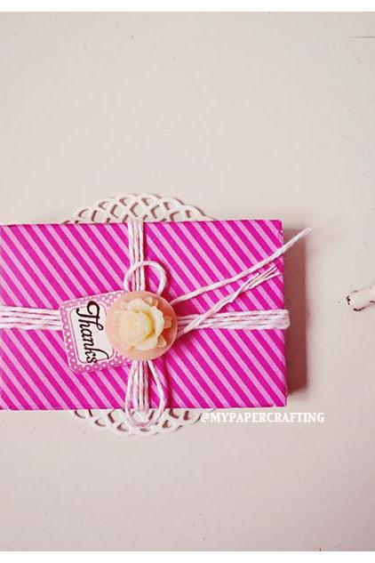 6 tiny Raspberry Fizz Shocking pink envelope / pack