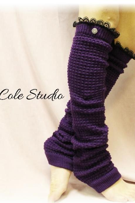 DANCE LOVE Legwarmers in Purple Passion, Look stunning wearing these to dance, yoga, ballet, Made in America by Catherine Cole Studio LW23