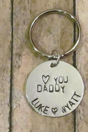 Dad Key Chain heart you Daddy - Personalized