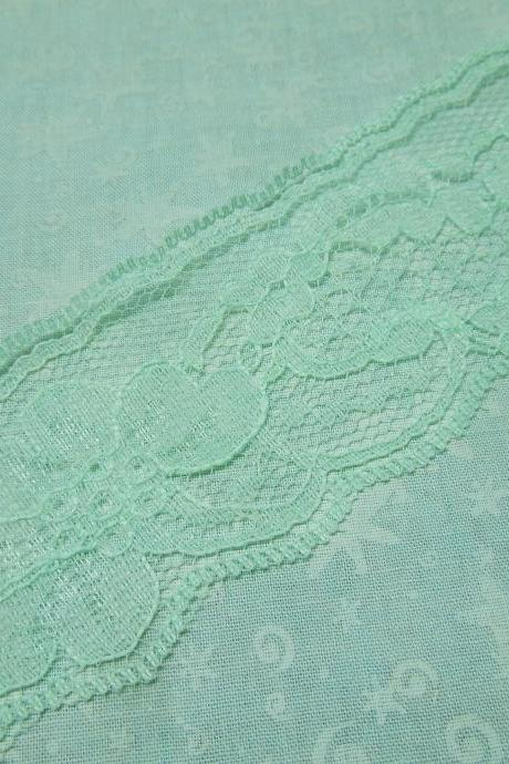 1 yard of 2 inch Mint Green Chantilly lace trim for spring, easter, wedding, bridal, baby, lingerie by MarlenesAttic - Item N8