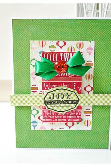 Joy to you & yours this holiday season handmade card