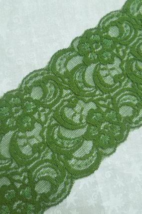 1 yard of 3 inch Olive Green Stretch elastic lace trim for baby headband, lingerie, holiday, christmas, hair acc by MarlenesAttic - Item UN