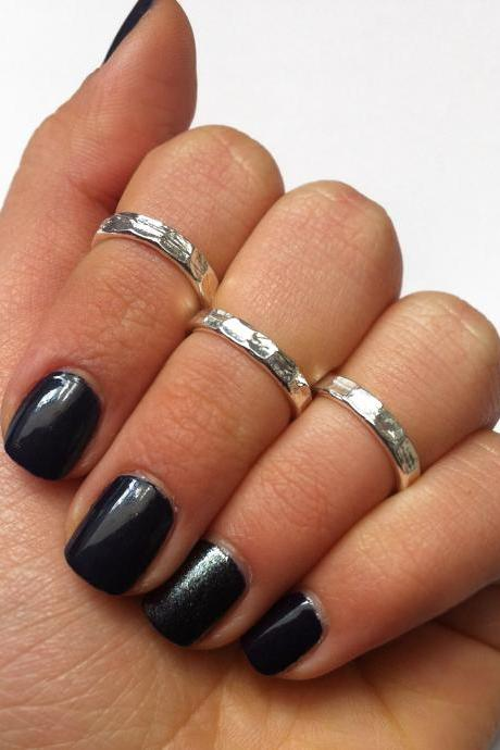 Silver Knuckle Rings - Silver Pinky Rings
