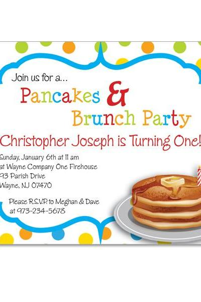 Pancake Custom Birthday Invitation