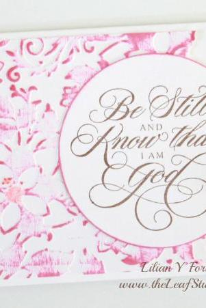 Be Still Greeting Card by The Leaf Studio. FREE shipping
