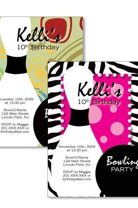 Bowling Custom Birthday Invitation