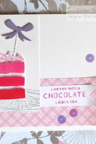 Ombre Cake Card. FREE shipping.