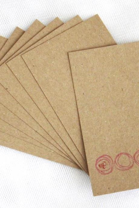 Circle Hearts Tags (set of 8) by The Leaf Studio. FREE shipping
