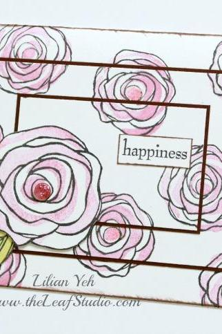 Happiness Greeting Card (Blank Inside) by The Leaf Studio. FREE shipping