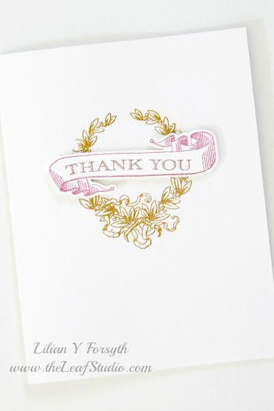 Set of 4 Thank You Cards (Blank Inside) by The Leaf Studio. FREE shipping. Made to Order.