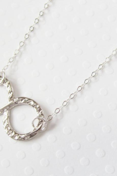 Sterling Silver Infinity Necklace, Sterling Silver Necklace