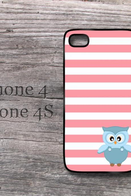 iPhone case stripes owl