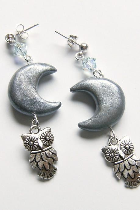 The Owl and the Moon earrings