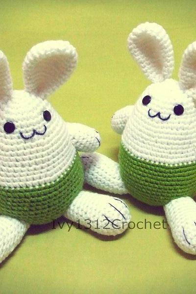 Easter Bunny 7.67' - Handmade Amigurumi crochet doll Home decor birthday gift Baby shower toy (Price for each item)