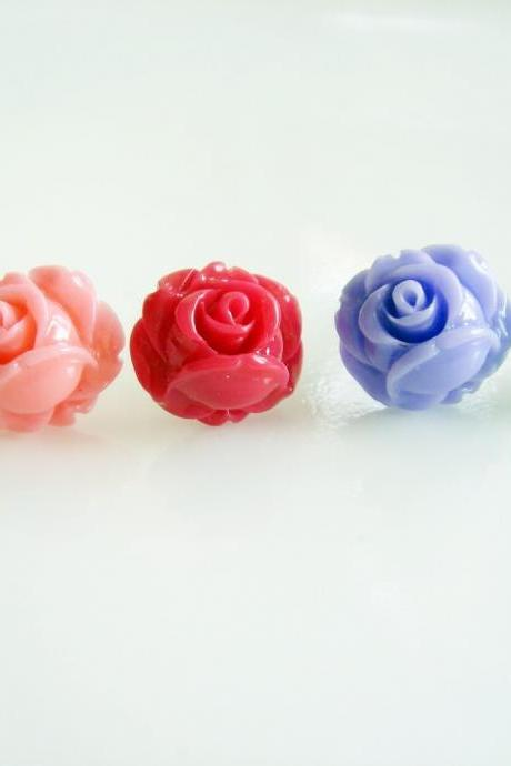 Customize your own Small Rose Stud Earrings