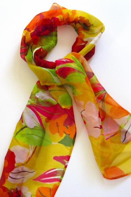 Summer Holiday Silk Scarf