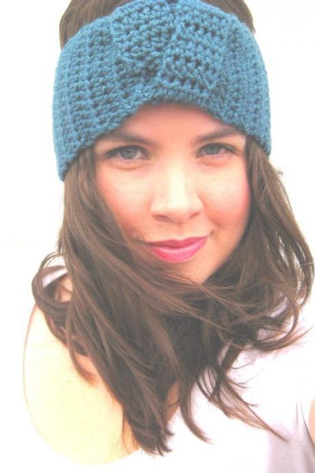 Turban Headband Knotted in Antique Teal