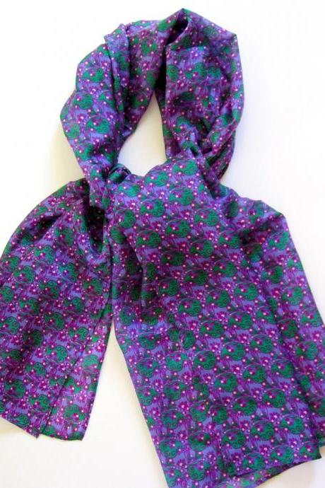 Purple Dream Luxurios Silk Scarf