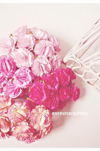 40 Carnation paper flower/ pack