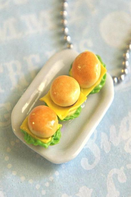 burger plate necklace