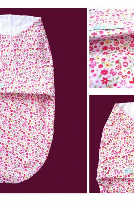 Eco Friendly Swaddle Wrap for Babies - Hot Pink Flower Field