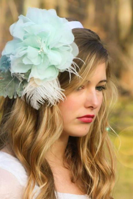 floral headband, bridal flower, hair fascinator, flower headband