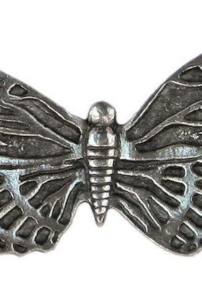 2 Danforth Butterfly Pewter Buttons