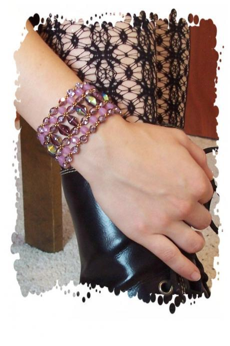 Double Cone Bracelet, Beading Tutorial in PDF