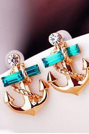 Anchor temptation earrings
