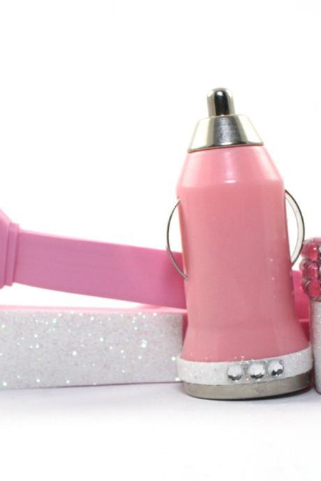 Glamour Pink iPhone Charger