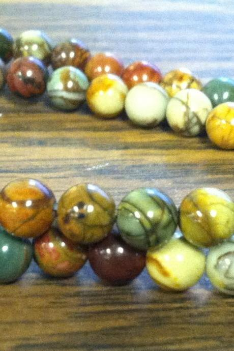 6mm Red Creek Jasper Semi-Precious Gemstones, 16 inch full strand