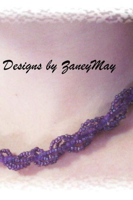 Spiral Rope Anklet, Bracelet, Necklace Pattern, Beading Tutorial in PDF