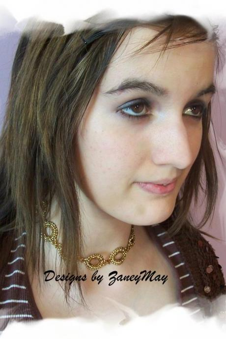 Buttons & Bows Choker Pattern, Beading Tutorial in PDF