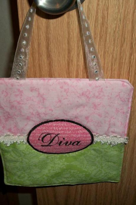 Pink and Green Diva Door Hanger