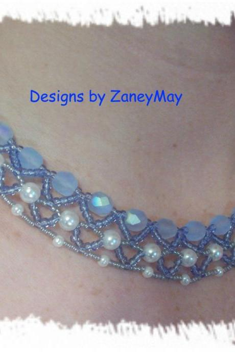 Elegant Necklace Pattern, Beading Tutorial in PDF
