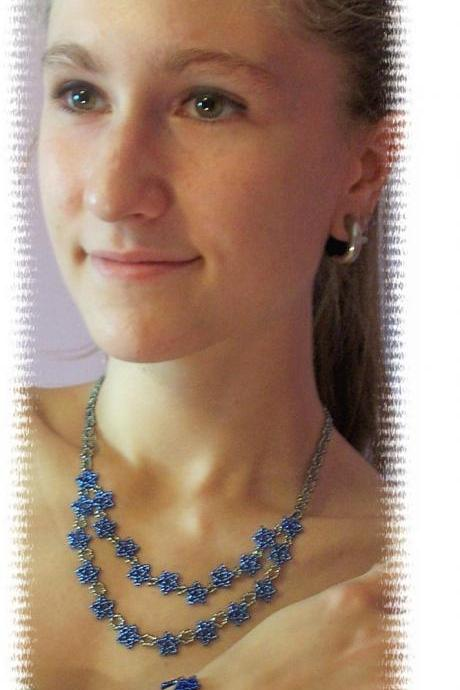 Star Necklace Pattern, Beading Tutorial in PDF