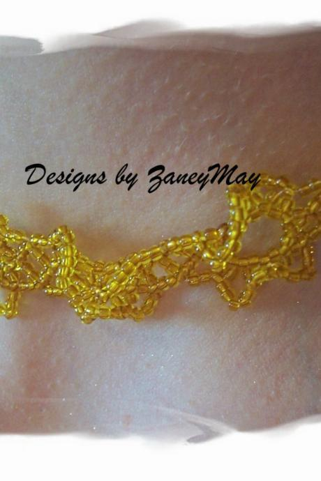 Summer Sun Necklace Pattern, Beading Tutorial in PDF