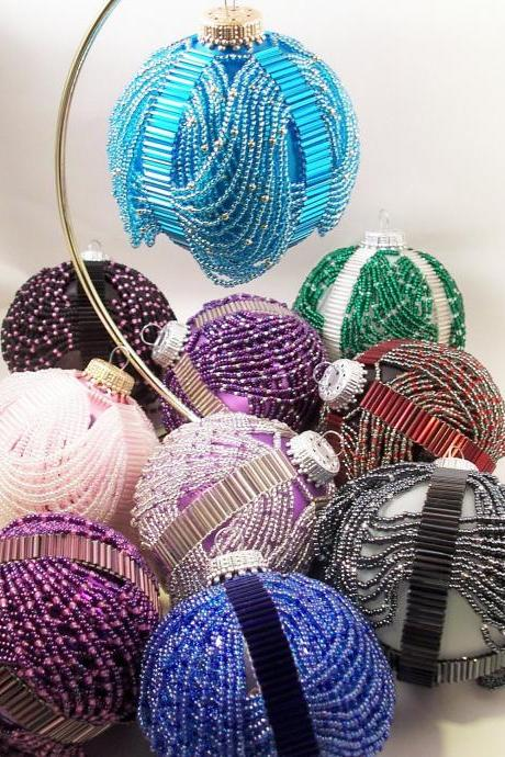 Beaded Swags Ornament, Beading Tutorial in PDF