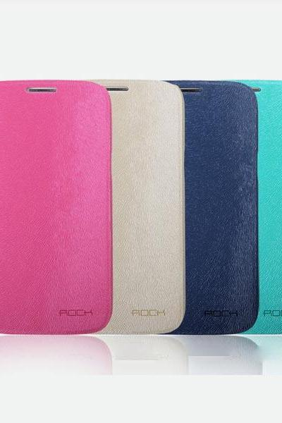 High Quality ROCK City Side Flip Leather Cover Case For SamSung Galaxy Note 2 II N7100