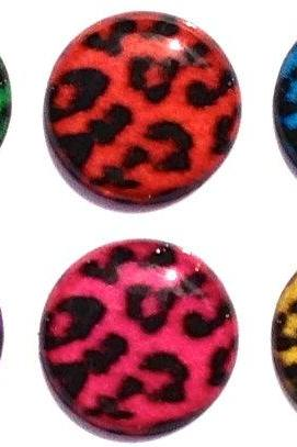 Cheetah Patterned - 6 Piece Home Button Stickers for Apple iPhone, iPad, iPad Mini, iTouch
