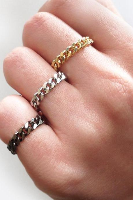 3 Color Curb Chain Rings