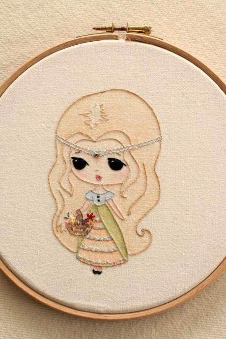 Embroidered Princess pdf Pattern