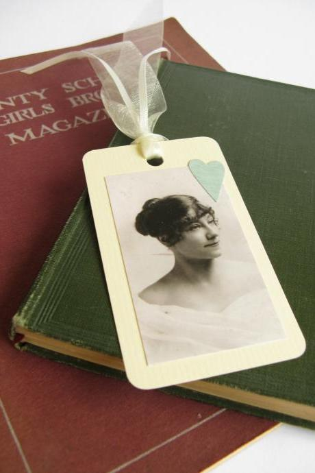 Edwardian Lady Portrait gift tag bookmark