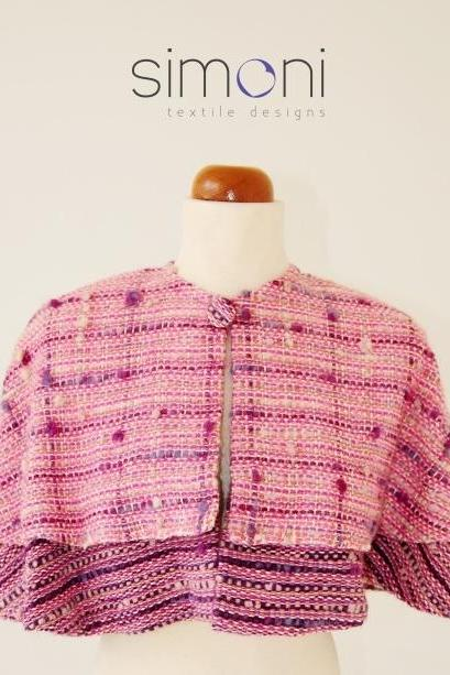Sweet Rose hand-woven cape