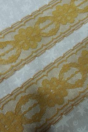 1 yard of 2 inch Gold chantilly lace for insertion, bridal, baby, wedding, couture, costume, holiday by MarlenesAttic - Item MR